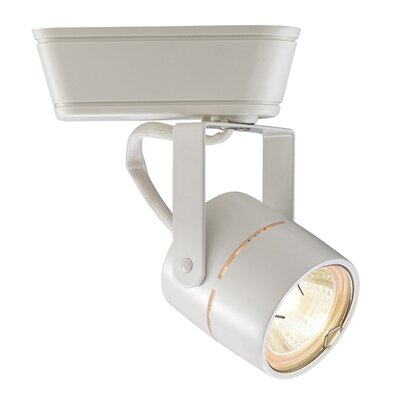 1-Light Domed Mesh Back Low Voltage Track Head Track Type: Juno Series, Bulb Type: 50W MR16 Halogen Bulb, Finish: White