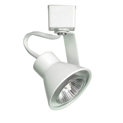 Miniature Luminaire 1-Light Loop Back Line Voltage Track Head Finish: White, Track Type: Halo