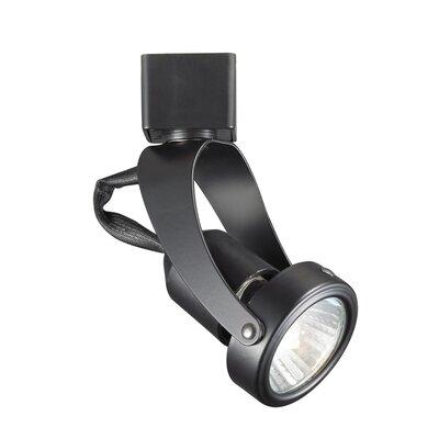 Miniature Luminaire 1-Light Pivot Line Voltage Track Head Finish: Black, Track Collection: Juno Series, Bulb Type: GU10