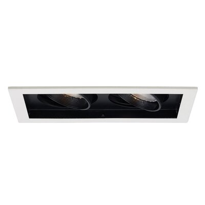 Line Voltage Medium Base Downlight Recessed Housing with Multi Spot Trim Finish Finish: Black