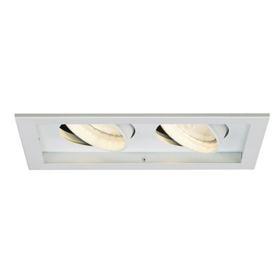 Line Voltage Medium Base Downlight Recessed Housing with Multi Spot Trim Finish Finish: White