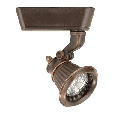 Rialto 1-Light Low Voltage Track Head Finish: Antique Bronze, Track Type: Juno Series, Bulb Type: 50W MR16G Halogen