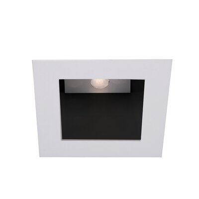LEDme Square 2.75 Recessed Trim Finish: Black / Brushed Nickel