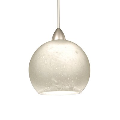 Americana 1-Light Rhea Line Voltage Track Pendant Shade Color: White, Finish: Platinum, Track Type: Flexrail1 Monorail