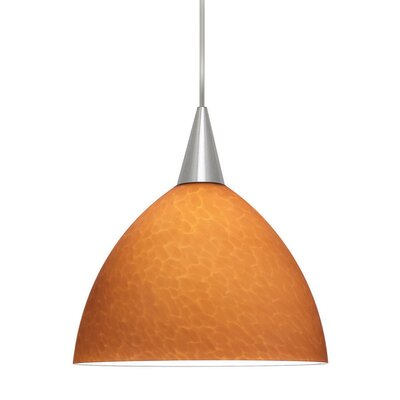Americana 1-Light Line Voltage Mini Track Pendant Shade Color: Amber, Finish: Black, Track Type: Lightolier Series