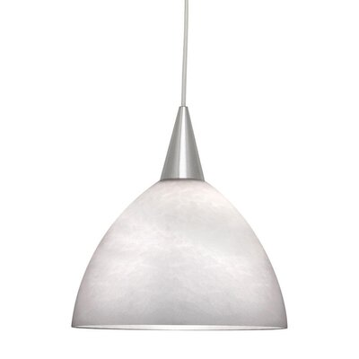 Americana 1-Light Line Voltage Mini Track Pendant Shade Color: White, Finish: Brushed Nickel, Track Type: Juno Series