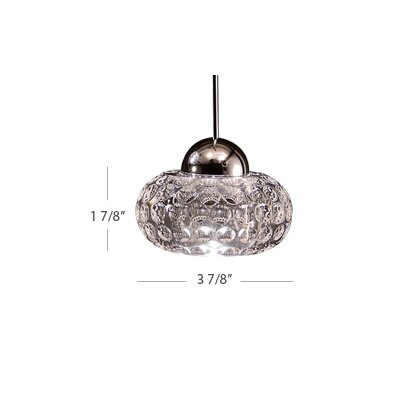 LED Crystal 1-Light Gem LED Pendant with Canopy Mount Finish: Brushed Nickel