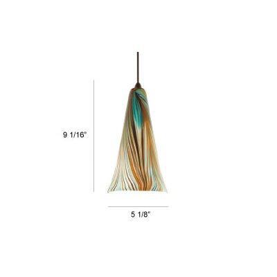 Artisan Peacock 5.125 Glass Bell Pendant Shade
