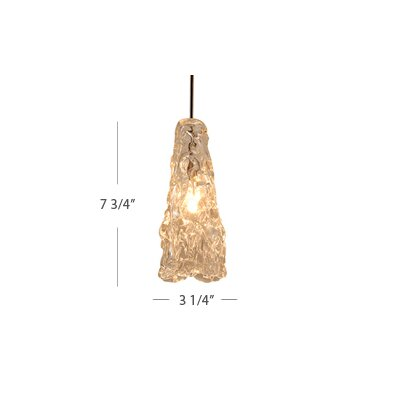 European 1-Light Ice Pendant with Canopy Mount Finish: Dark Bronze