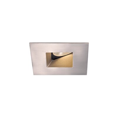 Downlight Wall Washer Square with Lens 2 LED Recessed Trim Finish: Brushed Nickel, Bulb: 4000K