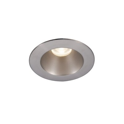 Downlight Adjustable Round 2 LED Recessed Trim Finish: Brushed Nickel, Bulb: 3000K