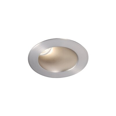 Downlight Adjustable Round 3.5 LED Recessed Trim with 50 Degree Beam Angle Finish: Brushed Nickel, Bulb: 4000K