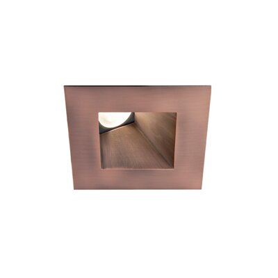 Downlight Wall Washer Square 2.88 LED Recessed Trim Bulb: 4000K, Finish: Copper Bronze