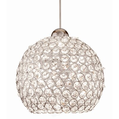 Crystal Roxy 1-Light Crystal Pendant Finish: Brushed Nickel