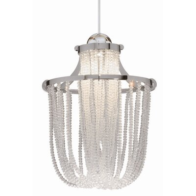 Industrial Cascade Quick Connect 1-Light Foyer Pendant Finish: Chrome