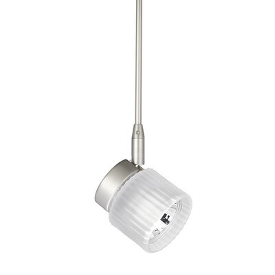 1-Light Quick Connect Track Pendant Stem Length: 3, Finish: Chrome