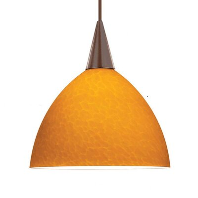 Americana 1-Light Creamery Track Pendant Track Type: Lightolier Series, Shade Color: White, Finish: Dark Bronze