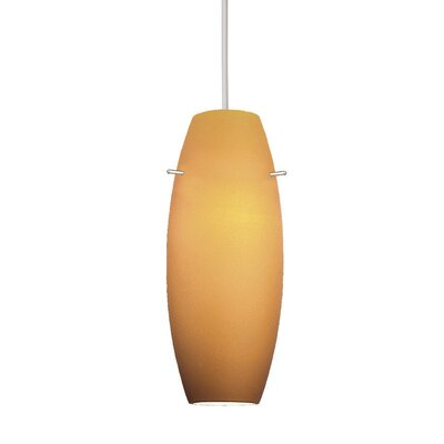 1-Light Bongo Line Voltage Mini Track Pendant Shade Color: Blue, Finish: Black, Track Type: Halo Series HTK-F4-451BL/BK