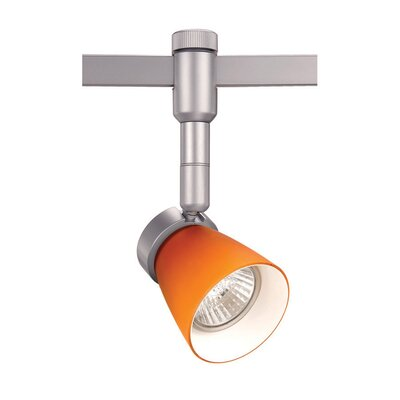 Flexrail1 1-Light Line Voltage Track Head Finish: Amber/Platinum