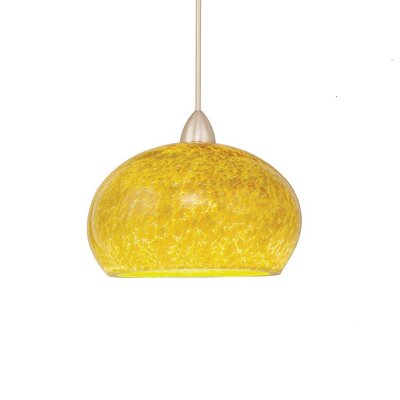 Pacific Northwest Komal 1-Light Mini Pendant Canopy Type: LED Monopoint Canopy, Shade Color: Lily, Finish: Chrome