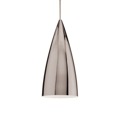 Industrial Monopoint Pendant Shade Color: Brushed Nickel, Finish Color: Chrome
