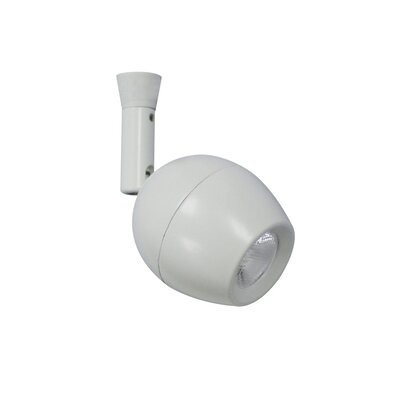 1-Light Linear Quick Connect Track Head Beam Spread: 40 Degrees, Finish: White