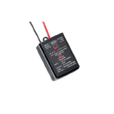 60W 12V Remoted Electronic Transformer in Black