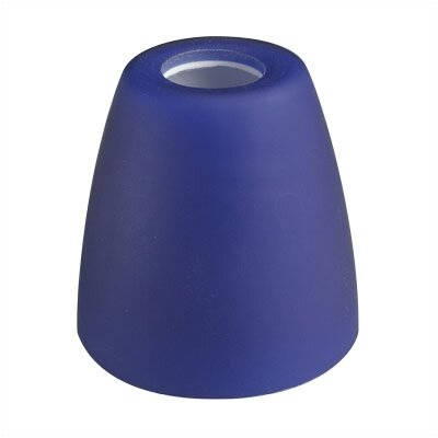 2.63 Glass Bowl Track Head Shade Finish: Blue