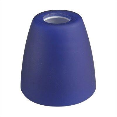 2.63 Glass Bowl Track Head Shade Finish: Blue