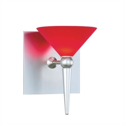 Contemporary 5.25 Glass Novelty Wall Sconce Shade Color: Red