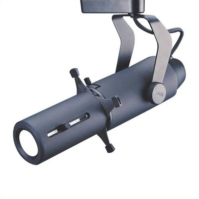 1-Light Low Voltage Framing Projector Track Head Track Type: Lightolier Series, Finish: Black