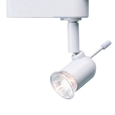 1-Light Aiming Wand Low Voltage Track Head Track Type: Lightolier Series, Bulb Type: 75W MR16 Halogen Bulb, Finish: White