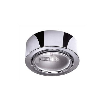 2.625 Under Cabinet Puck Light Finish: Chrome, Bulb Type: Halogen