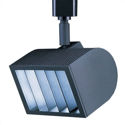 5-Light Wall Wash Luminaire Line Voltage Track Head Track Type: Halo Series, Finish: Black