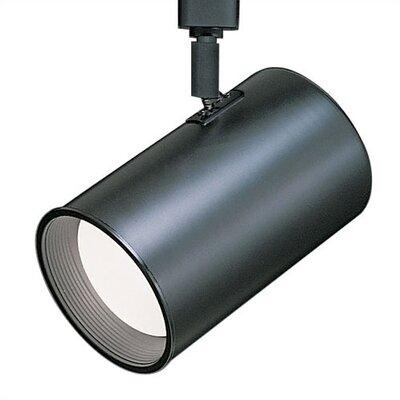 Line 1-Light Flat Back Luminaire Voltage Track Head Track Type: Lightolier Series, Finish: Black