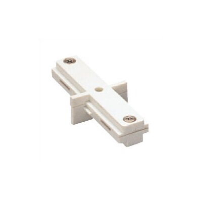 Single Circuit Straight Line I Dead End Track Connector for Lightolier Series Color: White