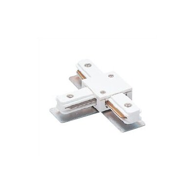 Single Circuit  T Power Connector for Lightolier Series Track System Color: White