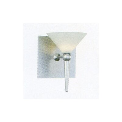 Contemporary 5.25 Glass Novelty Wall Sconce Shade Color: White