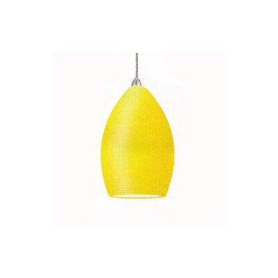 Contemporary Lauren Mini Pendant Finish: Brushed Nickel, Shade Color: Amber