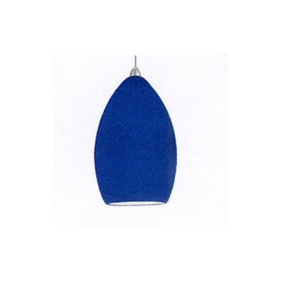 Contemporary Lauren Mini Pendant Finish: Brushed Nickel, Shade Color: Blue