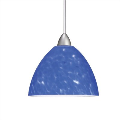 Yohji Mini Pendant Shade Color: White, Finish: Dark Bronze, Bulb Type: LED