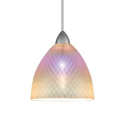 European Ambrosia 1-Light Mini Pendant Finish: Brushed Nickel, Bulb Type: Halogen