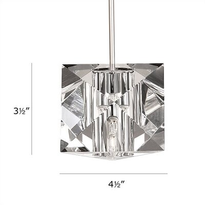 Crystal Prisma 1-Light Mini Pendant Finish: Chrome