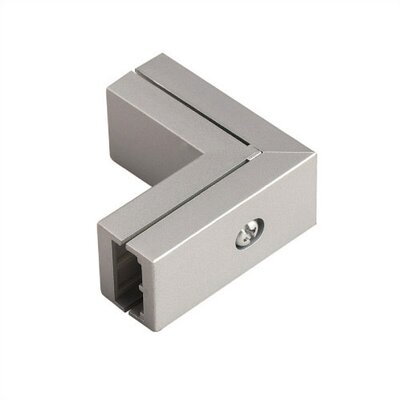 Duorail 2 Circuit L Connector Finish: Brushed Nickel
