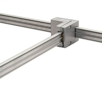 Duorail 2 Circuit T Connector Finish: Brushed Nickel