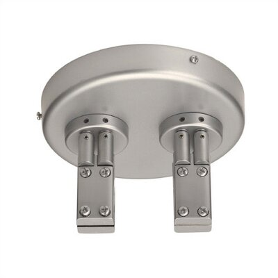 Duorail 2 Circuit Close to Ceiling Dual Power Feed Finish: Brushed Nickel
