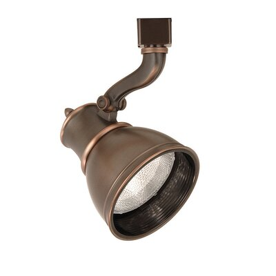 Caribe 1-Light Line Voltage Track Head Track Type: Halo Series, Lens: Without Lens, Finish: Antique Bronze