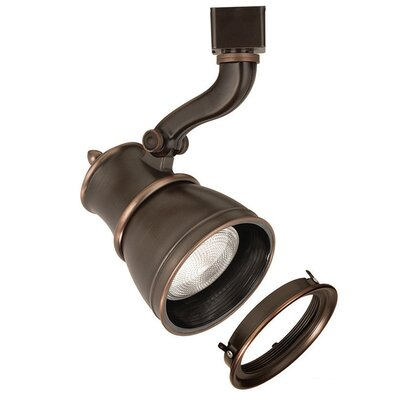 Caribe 1-Light Line Voltage Track Head Track Type: Halo Series, Lens: With Lens, Finish: Antique Bronze