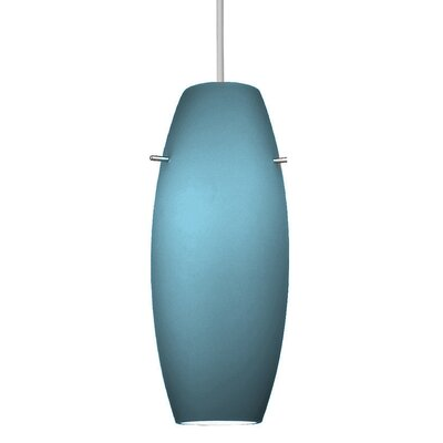 Flexrail2 1-Light Bongo Track Pendant Shade Color: Blue, Finish: Dark Bronze