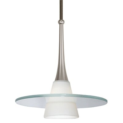Flexrail 1-Light Obo Line Voltage Track Pendant Finish: Brushed Nickel, Track Type: Halo Series